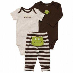 Carter's Boy Little Monster 3 Piece Outfit Set